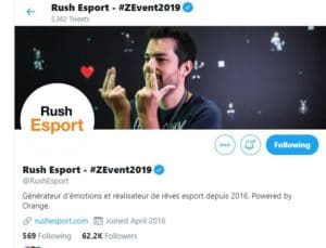 rush esport orange