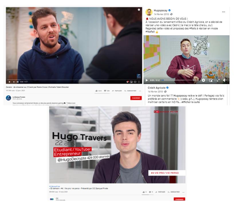 Capture d'écran Opération Influence Youtube x Banque